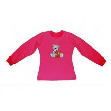 Tričko s výšivkou medvídek dívčí