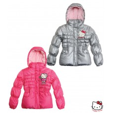 Zimní bunda Hello Kitty šedá